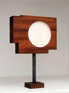 Abstract minimalist wood sculpture