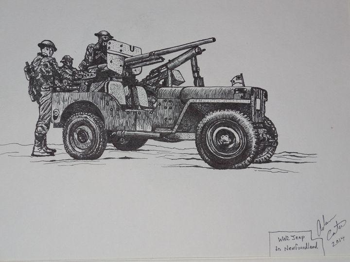 ww2 aa gun on willys - cater gallery