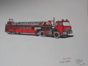 tiller aerial ladder fire truck