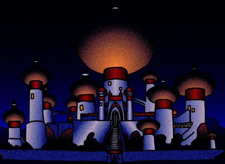 Agrabah Palace @ Night - My Artwork