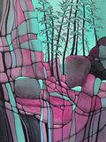 Original Abstract Acrylic Landscape