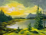 Original acrylic landscape