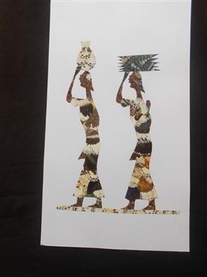 African Women Carriers - Djibi Jabber Butterfly Art