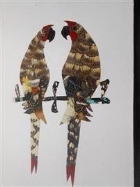 Pair of Parrots - Djibi Jabber Butterfly Art