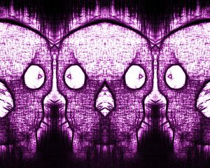 Three Heads  (Purple)