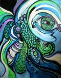 Oil and acrylic on canvas