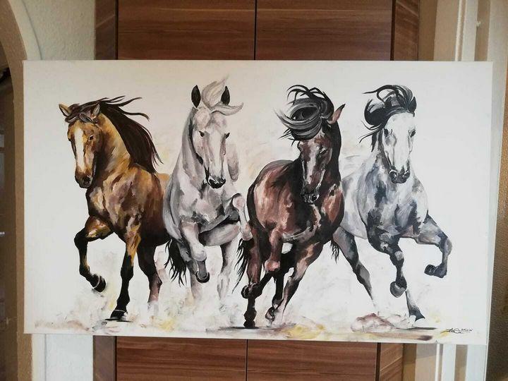 Horses - acrylic painting - Dreffiti Art
