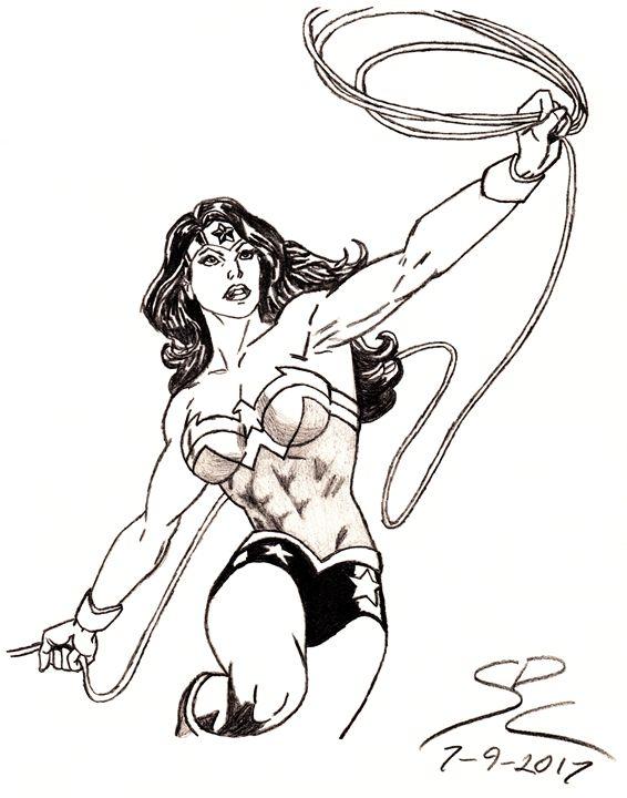 Wonder Woman pencil sketch - Caldwell's Art