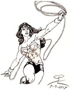 Wonder Woman pencil sketch