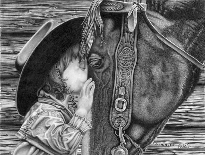I Love You Too - Glen Powell Fine Art Pencil Drawings