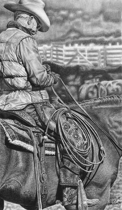 Geared Up - Glen Powell Fine Art Pencil Drawings