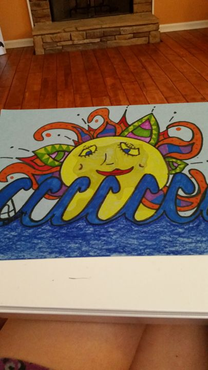 sunset beach - Hewitts art