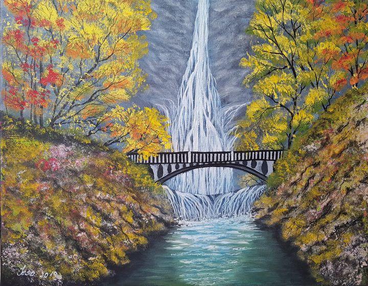 Multhnomah Falls - @s.avei_art