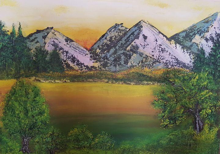 Evening in mountains - @s.avei_art