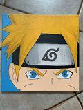 Naruto canvas acrylic painting
