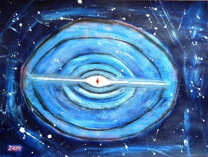 Eye's God - acrylic on paper 30x40 c - Em'Art - Emmanuelle Baudry