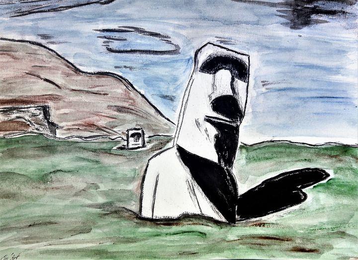 The call of Moaï by Em'Art - Em'Art - Emmanuelle Baudry