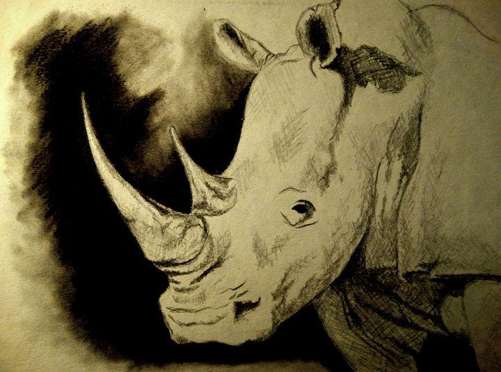 Rhinoceros - Wildlife on Paper