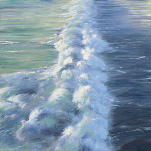 Sea Foam off Pier