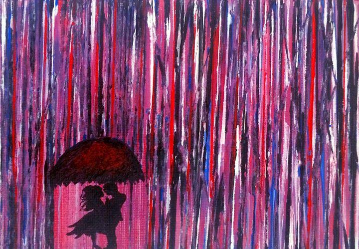 A kiss in the rain - Art By Kathu