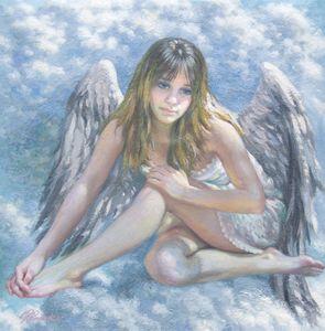 Etude 01 angel on a cloud