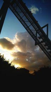 Rollercoaster sunset
