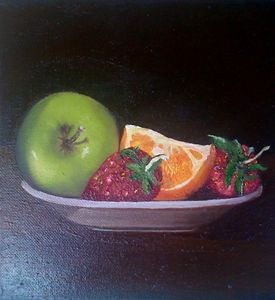 Fruit plate.Sold