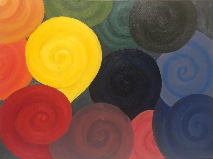 Rainbow Swirls - Unique and Mystique Creations by Caylan Wilder