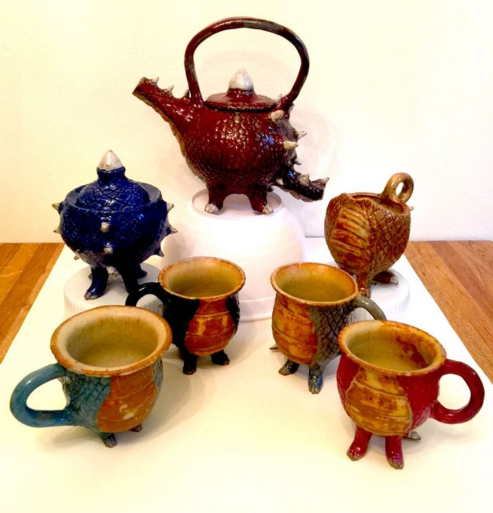 Dragon Themed Tea Set - Unique and Mystique Creations by Caylan Wilder