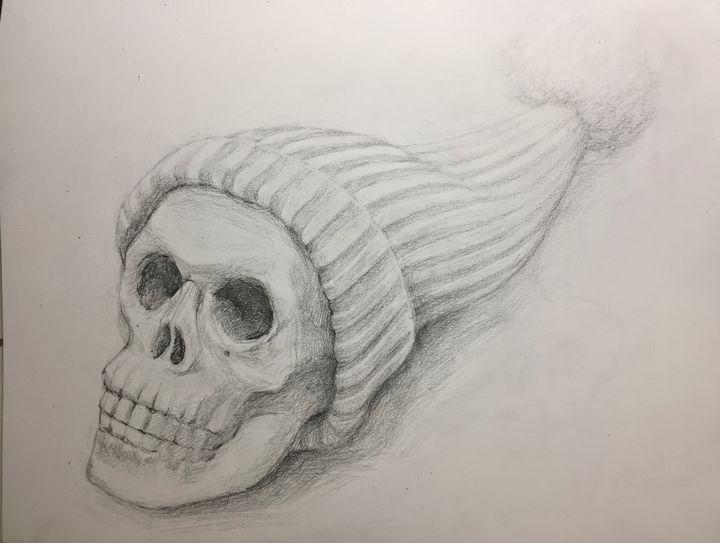 Skull with a hat - izoaix