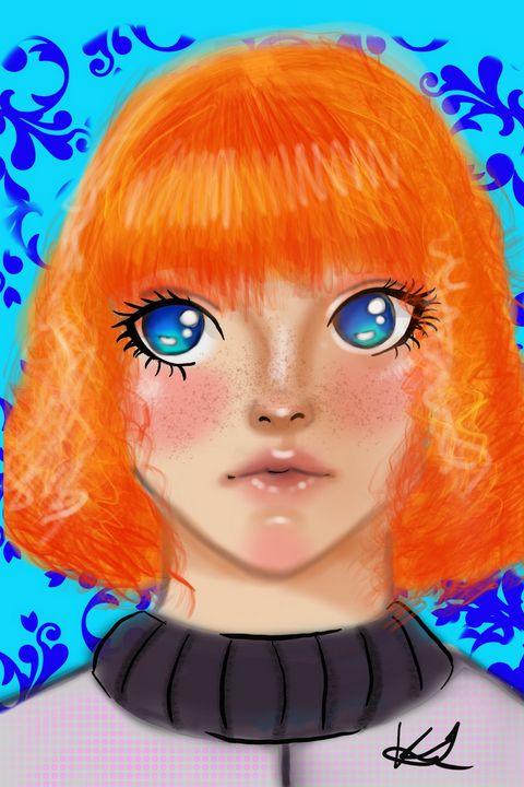 Fluffy ginger - Tandora's Art