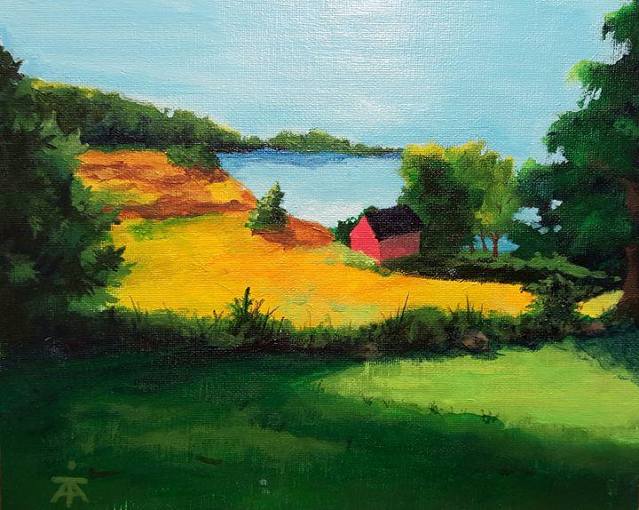 Red Barn at Sunrise - Tom Arenberg