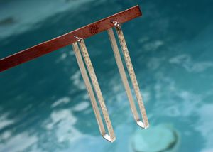 Rectangle Hoops Earrings - Karen Landrigan