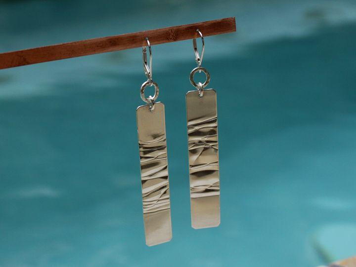 """""""Dan"""" earrings (DAe21-1) - Karen Landrigan"""