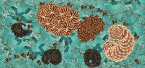 Green sea hairballs