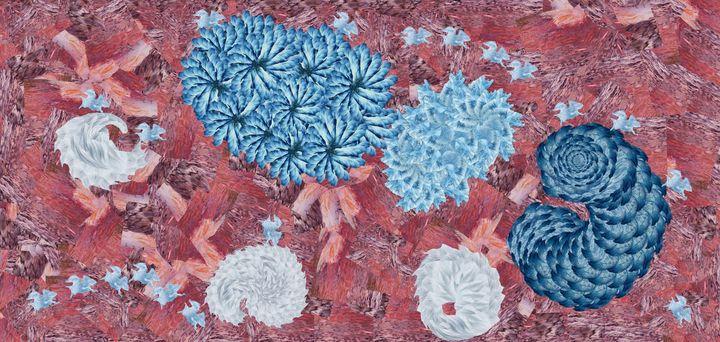 Pink sea hairballs - Wilkin Mejia