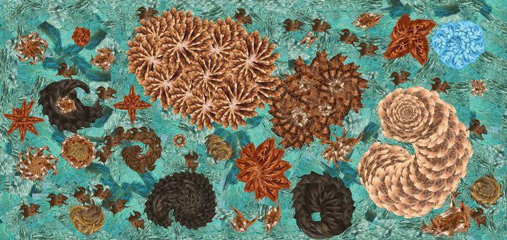 Green sea hair extension - Wilkin Mejia