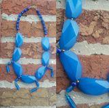 Blue oval shape necklace