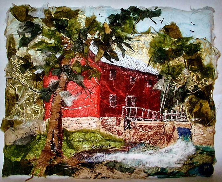 ALLEY MILL, Print of Paper Collage - Wenzel Trading Post