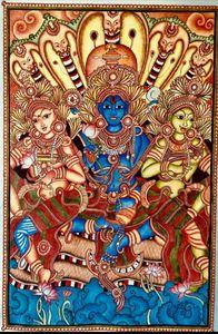 Lord Vishnu reclining on Ananta nag