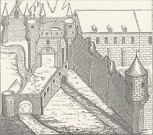 Medieval castle drawing - Effigia