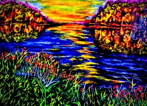 Lake at Beaver Ruin - Latourrette Art