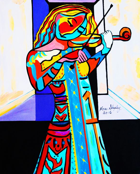 GIRL WITH VIOLIN  PICASSO - NORA SHEPLEY FINE ART