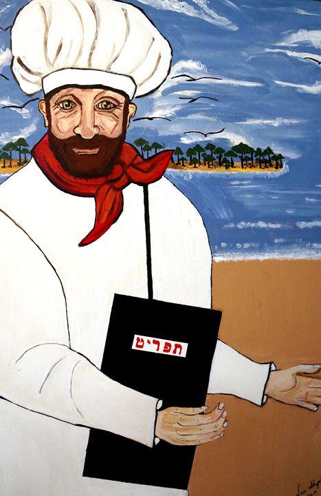 ISRAEL CHEF - NORA SHEPLEY FINE ART