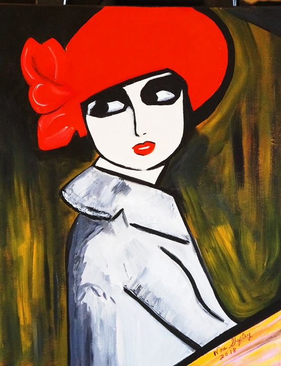 POPPY GIRL - NORA SHEPLEY FINE ART