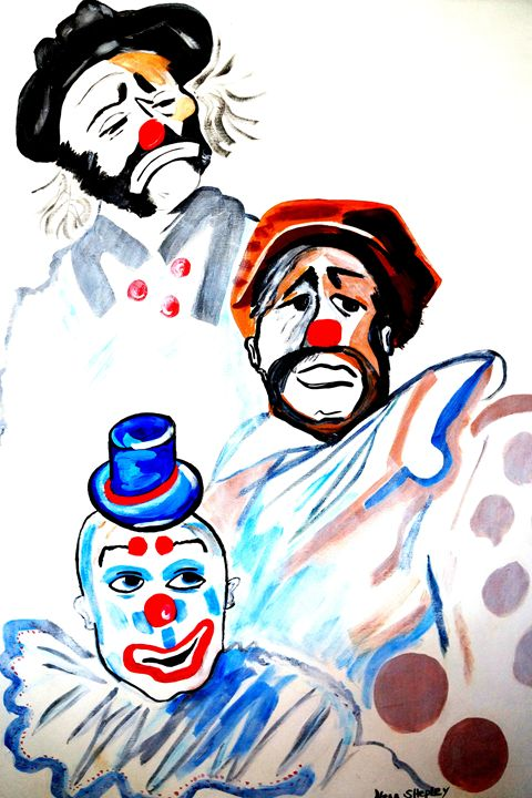 CLOWNS I'M LOOKING AT YOU - NORA SHEPLEY FINE ART