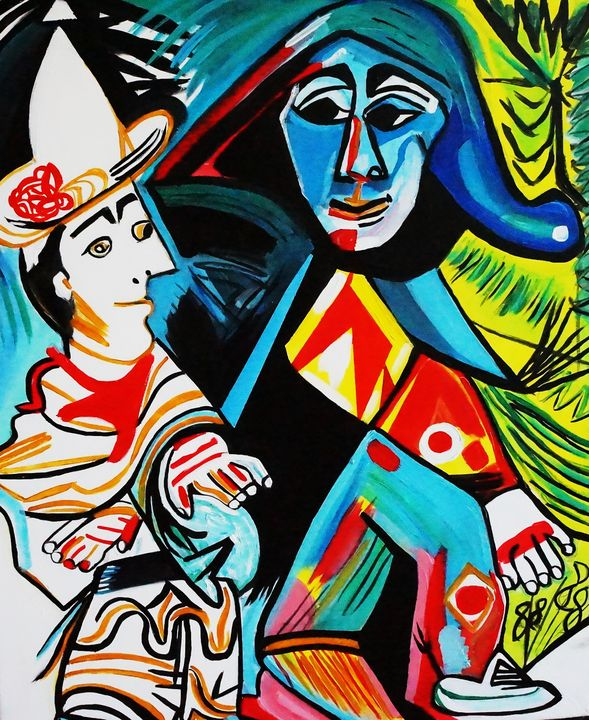 CLOWN AND HARLEQUIN - NORA SHEPLEY FINE ART