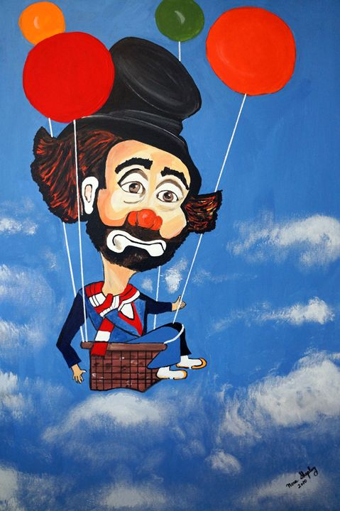CLOWN  I'M FLYING - NORA SHEPLEY FINE ART