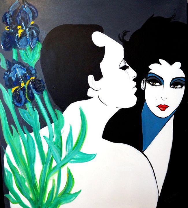 GIVE ME A LITTLE KISS  ART DECO - NORA SHEPLEY FINE ART