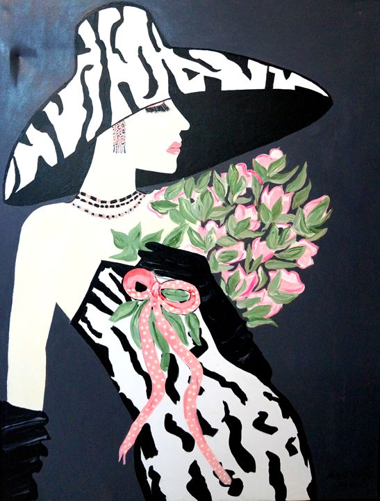 SALLY LOVES PINK  ART DECO - NORA SHEPLEY FINE ART